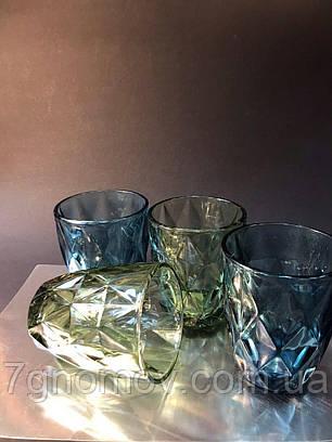 Набор 6 стаканов из цветного синего стекла Изольда 250 мл, фото 2