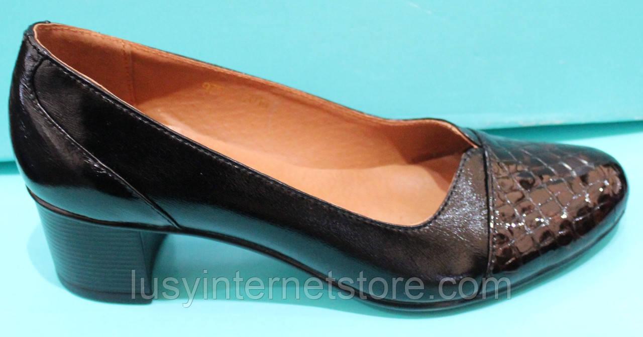 Туфли женские на среднем каблуке от производителя модель КС12