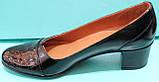Туфли женские на среднем каблуке от производителя модель КС12, фото 3