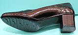 Туфли женские на среднем каблуке от производителя модель КС12, фото 4