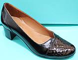 Туфли женские на среднем каблуке от производителя модель КС12, фото 2