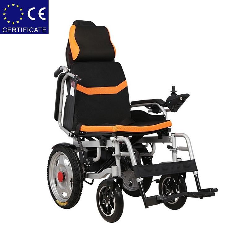 Складаний електричний візок інвалідний D-6036A. Інвалідна коляска. Крісло коляска.