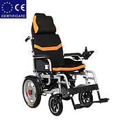 Складаний електричний візок інвалідний D-6036A. Інвалідна коляска. Крісло коляска., фото 2