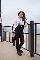 """Спортивный подростковый костюм для девочки""""Off-white"""" 13-16 лет, белого цвета, фото 1"""