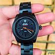 Часы мужские в стиле Rolex. Мужские наручные часы черные. Часы с черным циферблатом Годинник чоловічий, фото 4