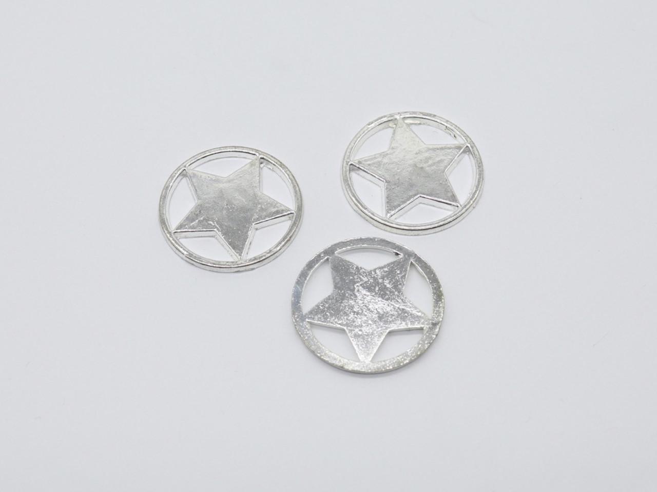 Заготовки для рукоделия. Цвет серебро. 32мм
