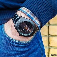 Часы мужские в стиле Rolex. Мужские наручные часы черные. Часы с черным циферблатом Годинник чоловічий, фото 3