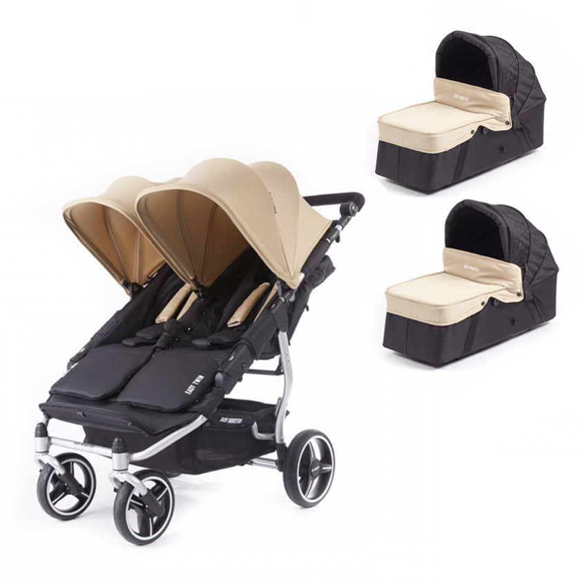 Коляска 2 в 1 для двойни Baby Monsters Easy Twin 3S Light