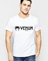 Футболка стильна Venum Венум біла (великий принт) (РЕПЛІКА)