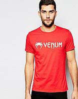 Футболка для хлопця Venum Венум червона (великий принт) (РЕПЛІКА)
