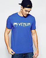 Модна футболка для хлопця Venum Венум синя (великий принт) (РЕПЛІКА)