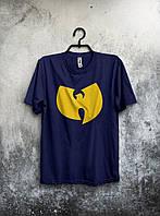 Мужская футболка темно синяя (большой принт) (РЕПЛИКА), фото 1