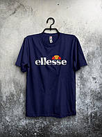 Чоловіча футболка Ellesse темно синя (великий принт) (РЕПЛІКА), фото 1