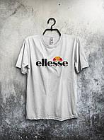 Біла футболка Ellesse (великий принт) (РЕПЛІКА), фото 1