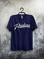 Футболка стильна Raiders темно синя (великий принт) (РЕПЛІКА), фото 1