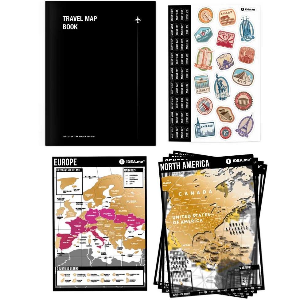 Планер путешествий с скретч-картами Travel Map Book