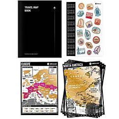 Планер подорожей з скретч-картами Travel Map Book