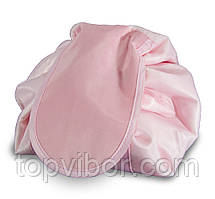 🔝 Большая дорожная женская раскладная косметичка -мешок Magic Travel Pouch Розовая  🎁%🚚