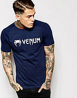 Футболка для хлопця Venum Венум темно синя (великий принт) (РЕПЛІКА)