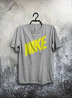 Футболка мужская Nike Найк серая (большой принт) (РЕПЛИКА), фото 1