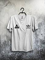 Футболка мужская Adidas Palace Палас Адидас белая (большой принт) (РЕПЛИКА), фото 1