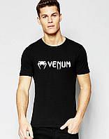 Футболка стильна Venum Венум чорна (великий принт) (РЕПЛІКА)