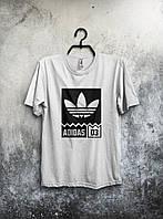 Футболка чоловіча Adidas Адідас біла (великий принт) (РЕПЛІКА), фото 1