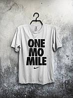 Футболка белая Nike One Mo Mile Найк (большой принт) (РЕПЛИКА), фото 1