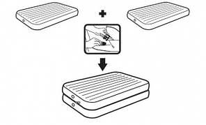 Надувная кровать одноместная Intex 67743, фото 2