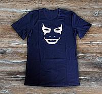 Мужская футболка  Джокер Joker темно синяя  (РЕПЛИКА), фото 1
