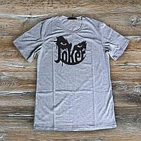 Летняя футболка Джокер Joker серая  (РЕПЛИКА), фото 1