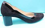 Туфли женские велюровые на среднем каблуке от производителя модель КС21, фото 3