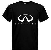 Стильна футболка чорна Infiniti, фото 1