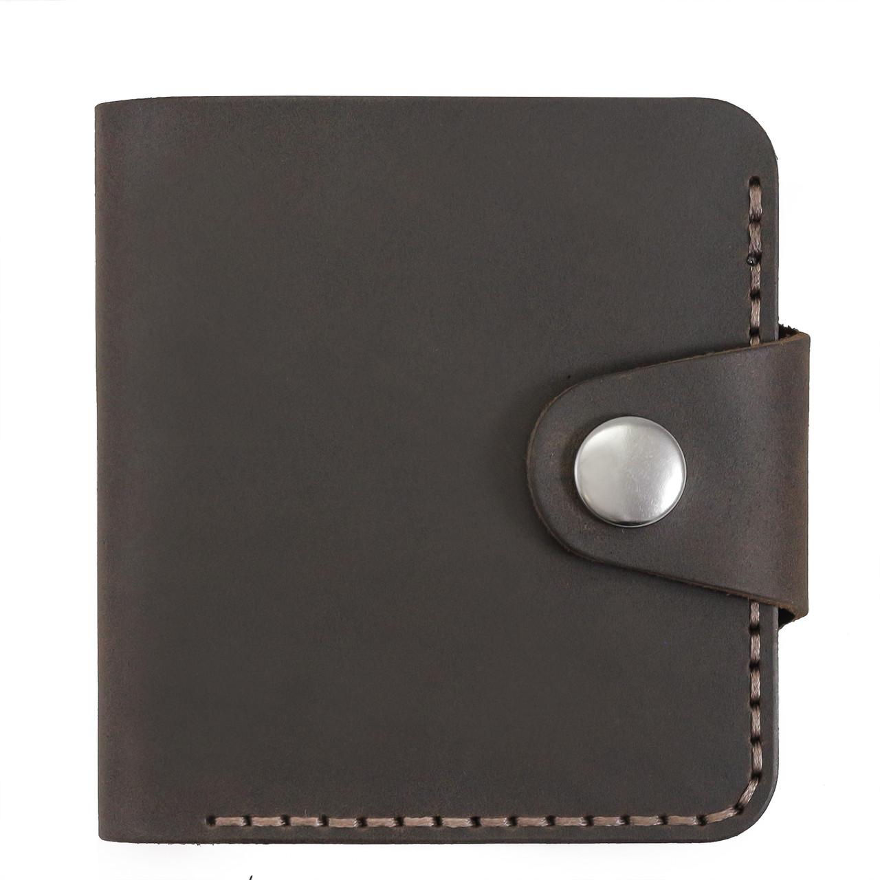 Бумажник мужской из матовой кожи ручной работы HELFORD Смит brn (roz-1133159980)