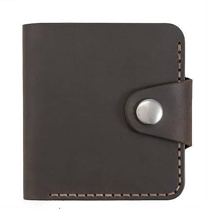 Бумажник мужской из матовой кожи ручной работы HELFORD Смит brn (roz-1133159980), фото 2