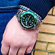 Часы мужские в стиле Rolex. Мужские наручные часы зеленые. Часы с зеленым циферблатом Годинник чоловічий, фото 4