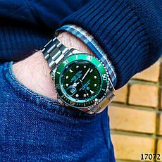 Часы мужские в стиле Rolex. Мужские наручные часы зеленые. Часы с зеленым циферблатом Годинник чоловічий, фото 2