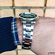 Часы мужские в стиле Rolex. Мужские наручные часы зеленые. Часы с зеленым циферблатом Годинник чоловічий, фото 5
