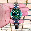Часы мужские в стиле Rolex. Мужские наручные часы зеленые. Часы с зеленым циферблатом Годинник чоловічий, фото 6