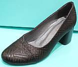 Туфли женские кожаные на среднем каблуке от производителя модель КС83, фото 2