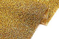 Клеевое стразовое полотно 40x24см. Цвет Золото Цена за 1 лист.