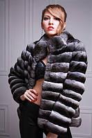 Шуба-полушубок из шиншиллы  chinchilla fur coat fur-coat