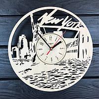 Настенные деревянные часы в интерьер «Нью Йорк», фото 1