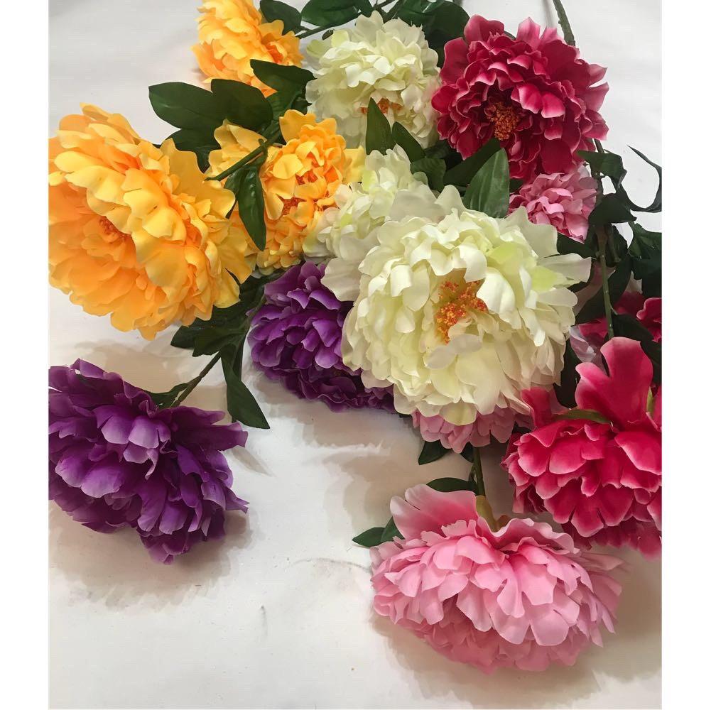 Искусственный пион 3 цветка ( 115 см)