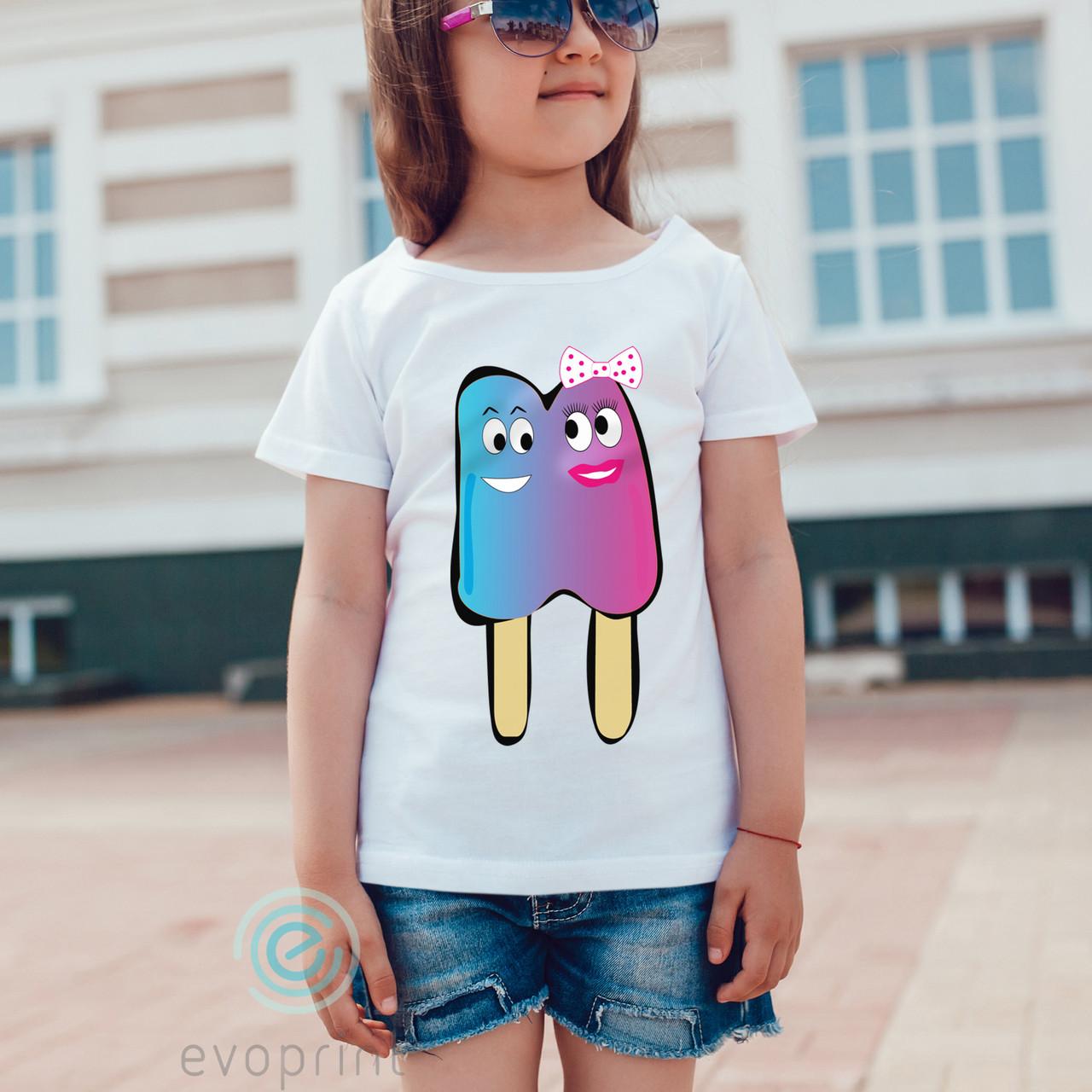 Печать на детских футболках из хлопка