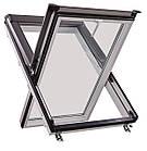Мансардні вікна ПВХ Roto Designo WDF R45  K AL Мансардные окна, фото 8
