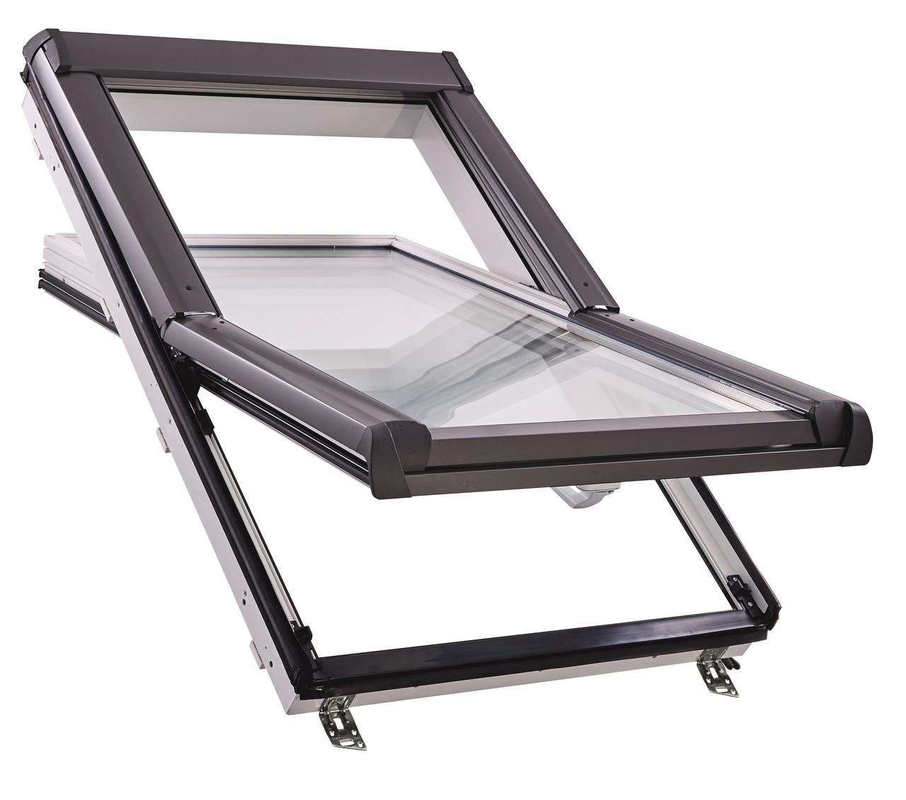 Мансардні вікна ПВХ Roto Designo WDF R45  K AL Мансардные окна