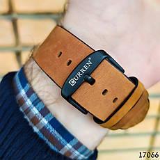 Часы мужские в стиле Curren. Мужские наручные часы черные. С черным циферблатом Годинник чоловічий, фото 2