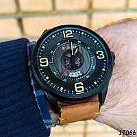 Часы мужские в стиле Curren. Мужские наручные часы черные. С черным циферблатом Годинник чоловічий