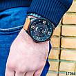Часы мужские в стиле Curren. Мужские наручные часы черные. С черным циферблатом Годинник чоловічий, фото 4